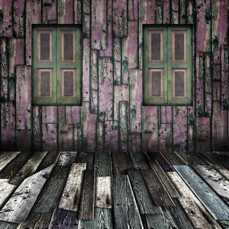 Window on grunge wooden room Stock Photo - 13788164
