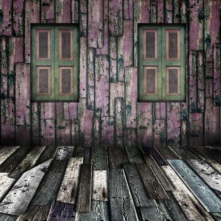 Window on grunge wooden room Stock Photo - 13788164