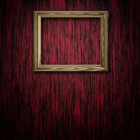 Picture frame on red wooden background Stock Photo - 13387355