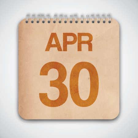 30 de abril de Vector Libro Antiguo