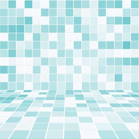 Habitaciones en el Interior con el vector de la pared de mosaicos