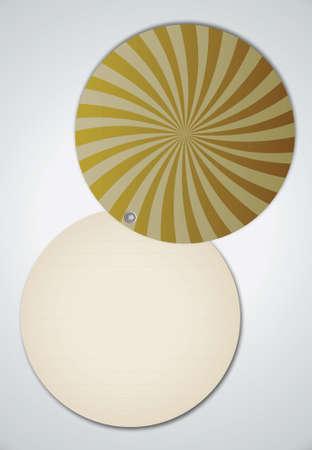 Open Circle Spiral Ray Cover Notebook Vector Stock Vector - 13551183