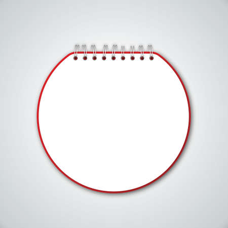 Red Circle Notebook Vector Stock Vector - 13551204