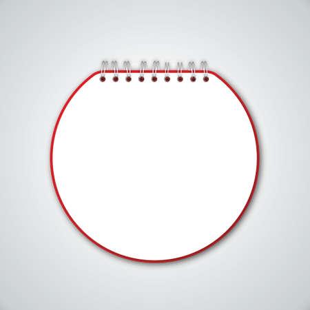 book binding: Red Circle Notebook Vector