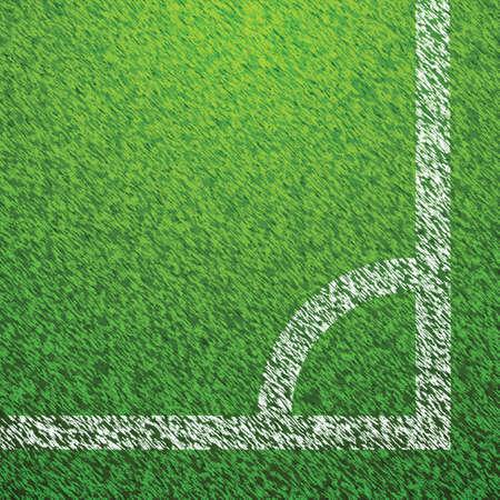 Soccer Field Grass Corner Vector Vector