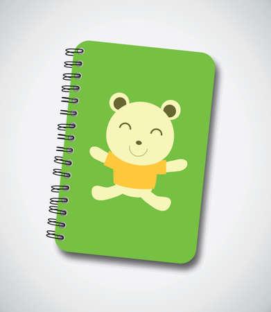 Happy Bear Notebook Cover Vector Stock Vector - 13551180
