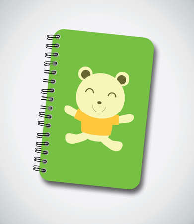 notebook cover: Happy Bear Notebook Cover Vector