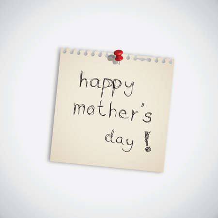 Happy Mother s Day Note Paper Vector