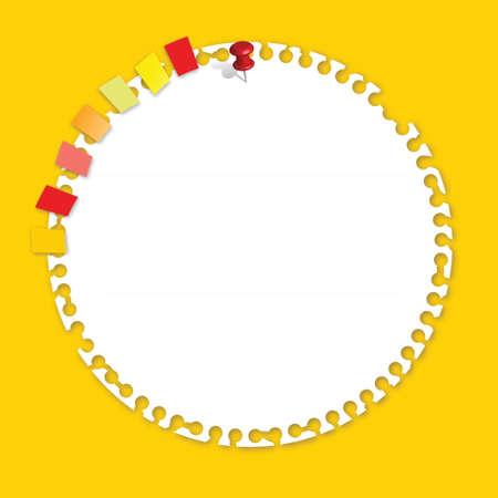 C�rculo de papel con marcador Vector