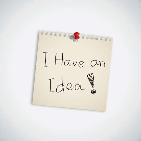 I Have an Idea Word Note Paper Vector