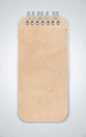 wrinkled paper: Oude Grunge Notebook Vector
