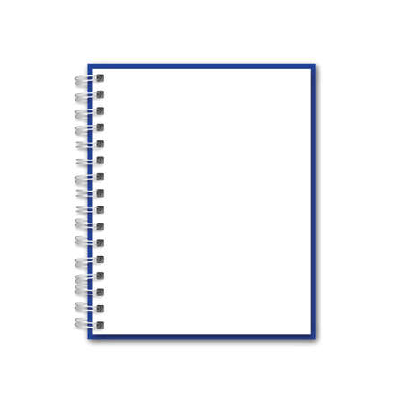 Vector Blank Realistic Notebook