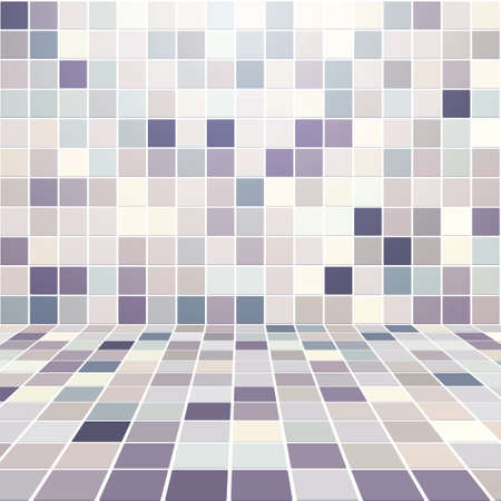 Interior Room with Mosaic Tiled Wall Vector Stock Vector - 13756961
