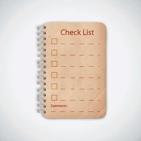 Check list Old Notebook Stock Vector - 13784542