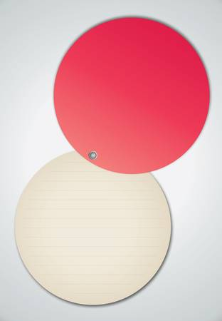 Circle Red Notebook Vector