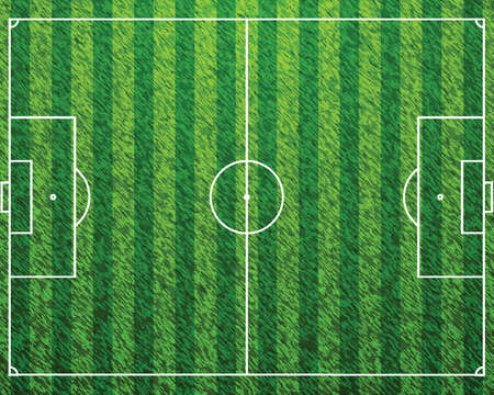 Soccer Field with Lines on Grass Vector