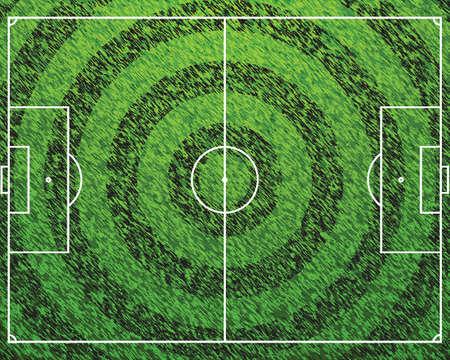 Standard Football Grass Field Stock Vector - 13785139
