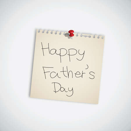 Happy Father s Day Note Paper Illustration