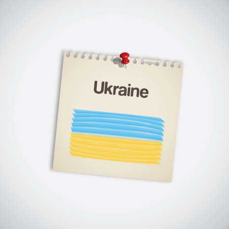 Paint Flag of Ukraine Note Paper Vector Stock Vector - 13807323