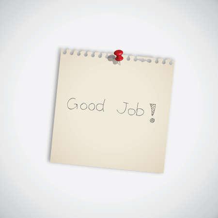note de service: Parole d'emploi bien sur le papier Remarque Illustration