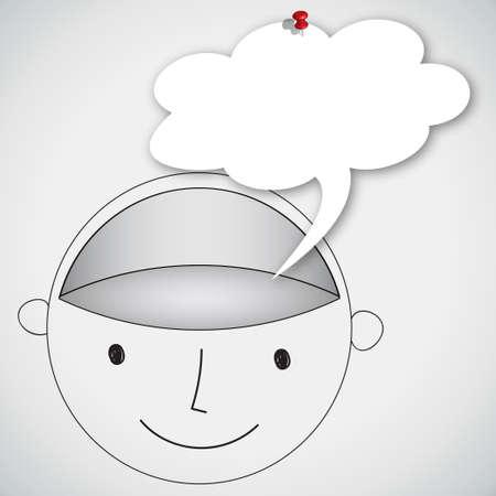 Head Blank Brain with Balloon Word Concept Idea