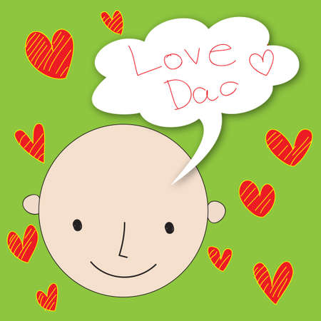 Hand Drawn Card for Father s Day Vector
