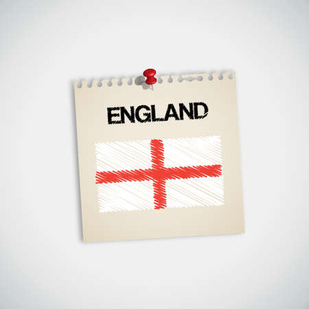 graphing: Pintura de la bandera de papel de nota de Inglaterra