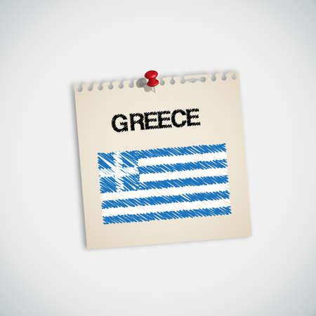 graphing: Bandera de pintura vectorial Grecia Libro Nota