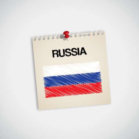 graphing: Pintura de la bandera de papel de nota de Rusia