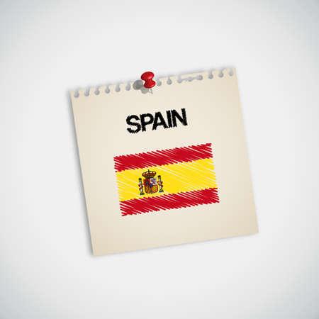 graphing: Pintura Bandera de Espa�a Nota de papel