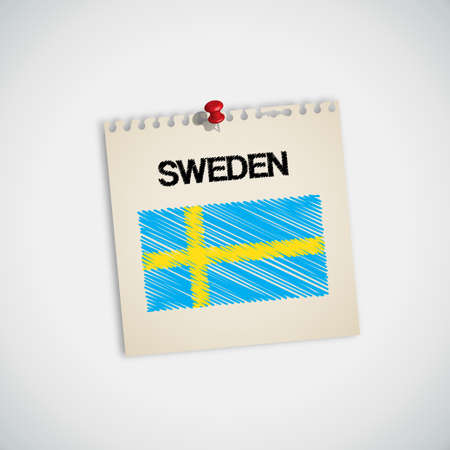 sweden flag: Paint Flag of Sweden Note Paper