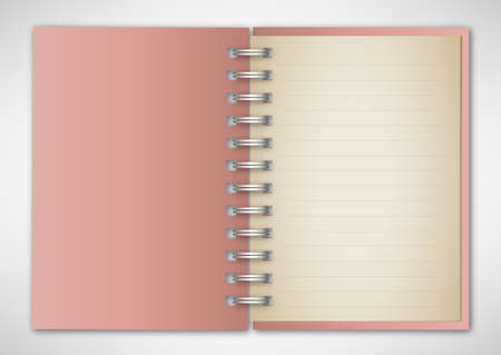 Vector Pink Notebook