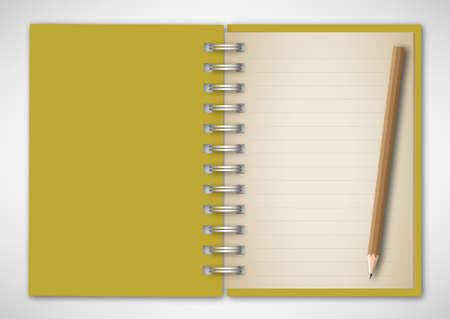 Notebook with Pencil Stock Vector - 14710610