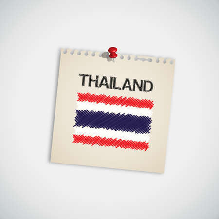 Paint Flag of Thailand Note Paper  Illustration