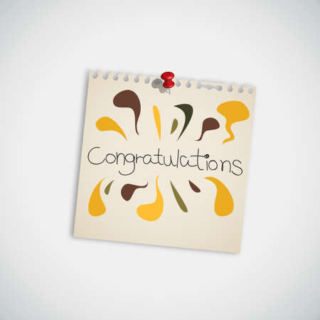 Congratulations Note Paper Vector Vector