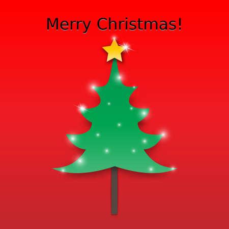 Vector Christmas Tree Card Background Vector
