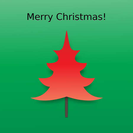 Vector Christmas Tree Card Background Vector
