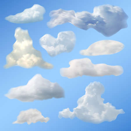 vector clouds collection Stock Vector - 16173456