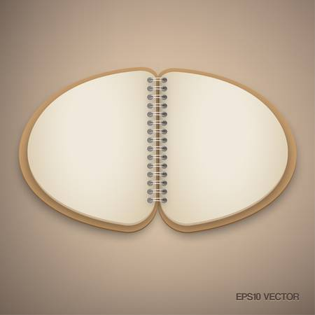 Brown Vintage Semi Circle Notebook Vector Vector
