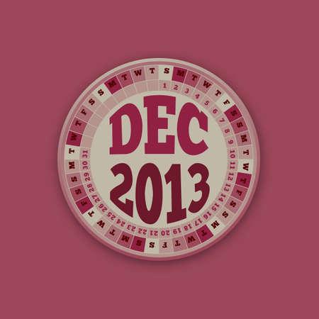 Roulette Wheel Design 2013 Calendar December Stock Vector - 16418566