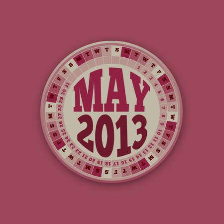 Roulette Wheel Design 2013 Calendar May Stock Vector - 16418593