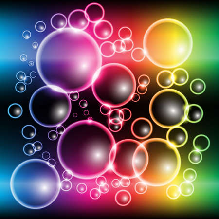 Abstract Colorful Rainbow Bubble Background Vector Vector