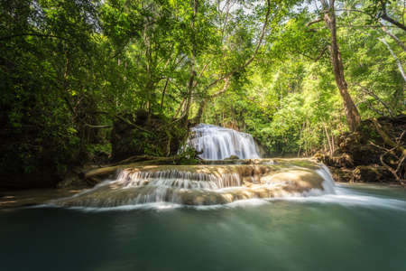 khamin: Huai Mae Khamin Waterfall the most popular places in Kanchanaburi