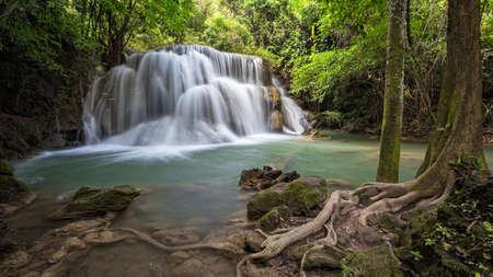 Huai Mae Khamin Waterfall Kanchanaburi Thailand Stock Photo - 26578902