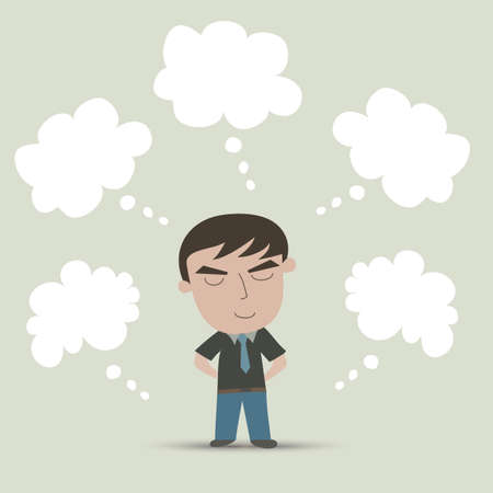 Businessman Dreaming Illustration