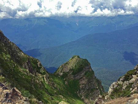 The peak of 2530 meters above sea level Stock Photo