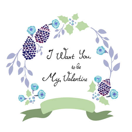 saint valentines: Flower design del telaio per San San Valentino