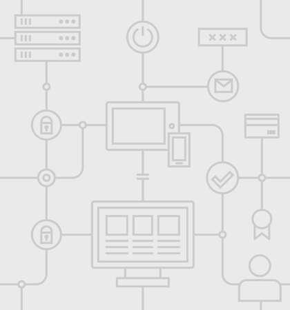 computer centre: Patr�n Internet Security transparente sobre un fondo gris. Vector Ilustraci�n plana. Vectores