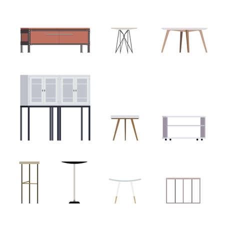 scandinavian: Set of Modern Scandinavian Styled Coffee Tables