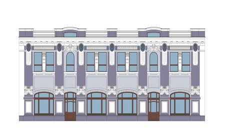 Flat Illustration of an XIX Century Building Illustration